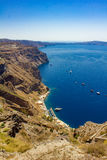 Old port of Fira Stock Photography