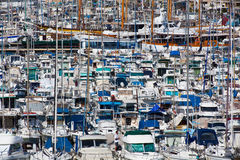 Old port full of boats and yachts,Marseille. Stock Photos