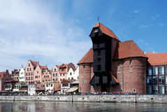 Old Port of Gdansk with the Crane Royalty Free Stock Photos