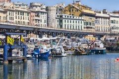 Old port Genoa Royalty Free Stock Photos