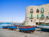 The old port of Giovinazzo. Apulia. Stock Photo
