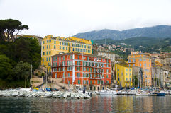 The old port harbor Bastia, Corsica, France Stock Photo