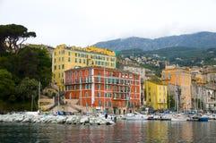 The old port harbor Bastia, Corsica, France Stock Photo