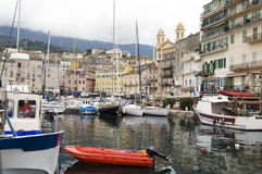 Old port harbor Bastia Corsica France royalty free stock photo