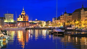 The Old Port in Helsinki, Finland stock video