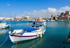 Old port of Heraklion, Crete, Greece Royalty Free Stock Photography