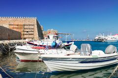 Old port of Heraklion, Crete, Greece Stock Images