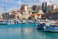 Old port of Heraklion, Crete, Greece Stock Image