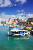 Old port of Heraklion, Crete, Greece Stock Photos