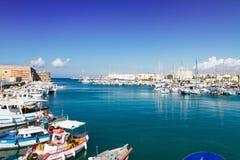 Old port of Heraklion, Crete, Greece Stock Photo