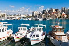Old port of Heraklion, Crete, Greece Royalty Free Stock Photo