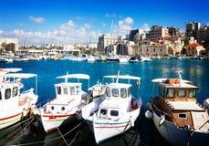 Old port of Heraklion, Crete, Greece Stock Images