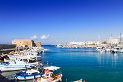 Old port of Heraklion, Crete, Greece Royalty Free Stock Photos