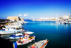 Old port of Heraklion, Crete, Greece Royalty Free Stock Images