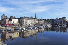 The old port of Honfleur Stock Photography