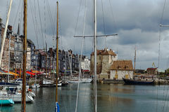 Old port in Honfleur, France Royalty Free Stock Photo