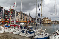 Old port in Honfleur, France Royalty Free Stock Photos