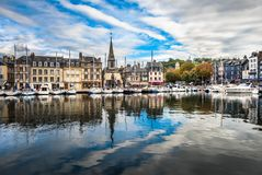 Old port of Honfleur, Normandy, France Stock Photo