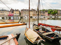 Old port. Honfleur, Normandy, France Stock Images