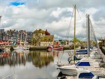 Old port. Honfleur, Normandy, France Stock Photos