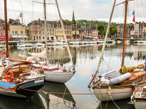 Old port. Honfleur, Normandy, France Stock Photos