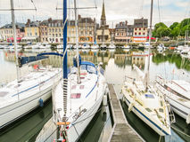 Old port. Honfleur, Normandy, France Royalty Free Stock Image