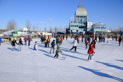 Old port ice rink Royalty Free Stock Images