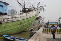 Old port in JAKARTA from colonial time Stock Photo