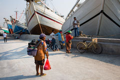 Old port of Jakarta Stock Images
