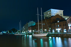Old Port in Katajanokka. Royalty Free Stock Photography