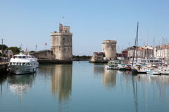 Old port of La Rochelle, France Royalty Free Stock Images