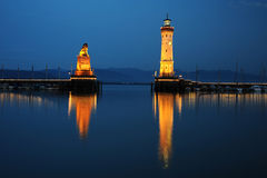 Old port of Lindau Stock Photography