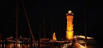 Old port of Lindau. Germany Royalty Free Stock Photography