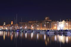 The old port of Marseille Stock Image
