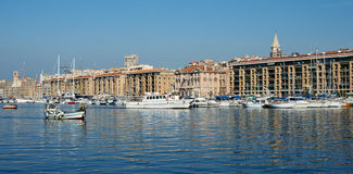 Old port of Marseille. France, the quay with boats and yachts Stock Photography