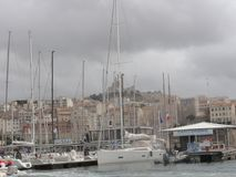 Old port of Marseille - Bouches du Rhone - France. Old port of Marseille, capitale of the Bouches du Rhone department and Provence-Alpes Cote. Outdoor shooting Royalty Free Stock Image