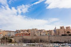 Old port of Marseille at dusk Royalty Free Stock Photos