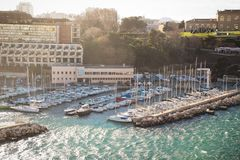 Old-port of Marseilles. 2017-12-16 Stock Photos