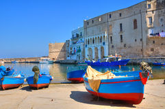 Old port. Monopoli. Puglia. Italy. Stock Photos