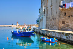 Old port. Monopoli. Puglia. Italy. Royalty Free Stock Photos