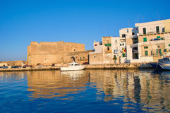 Old port of Monopoli. Puglia. Italy. Royalty Free Stock Images