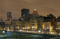 Montreal - Night Skyline Royalty Free Stock Photo
