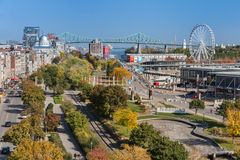 Old Port of Montreal royalty free stock image