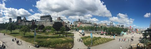 Old port in Montreal, Canada - panorama Stock Photos