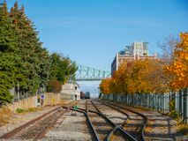Old port of Montreal, Canada Stock Image