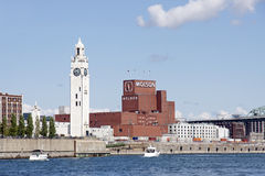 The Old Port of Montreal - Molson Brewery royalty free stock photography