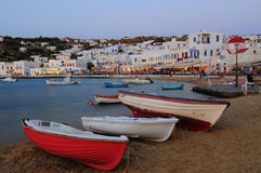 Old port at mykonos island , cyclades , Greece Stock Images
