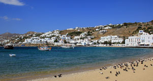 Old port on Mykonos island Royalty Free Stock Photos