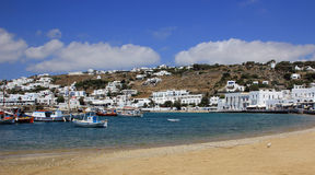 Old port on Mykonos island Stock Photography