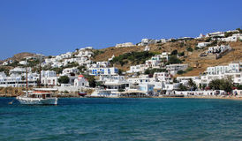 Old port on Mykonos island Royalty Free Stock Images